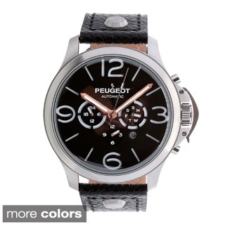 Peugeot MK912 Men's Stainless Steel Automatic Multi-function Leather Watch