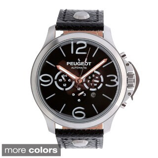 Peugeot MK912 Men's Stainless Steel Automatic Multi-function Leather Watch (3 options available)