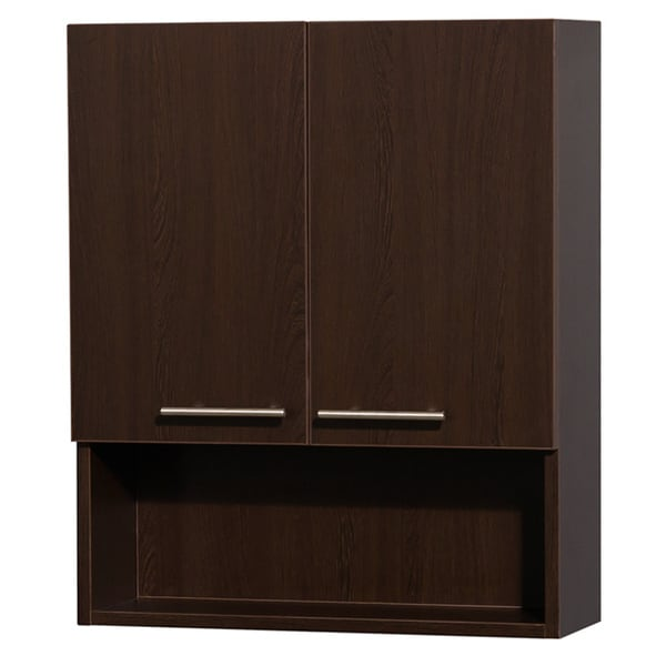 Cool Wall Mounted CabinetBathroom Storage 3 Shelves Mahogany  Cabinets