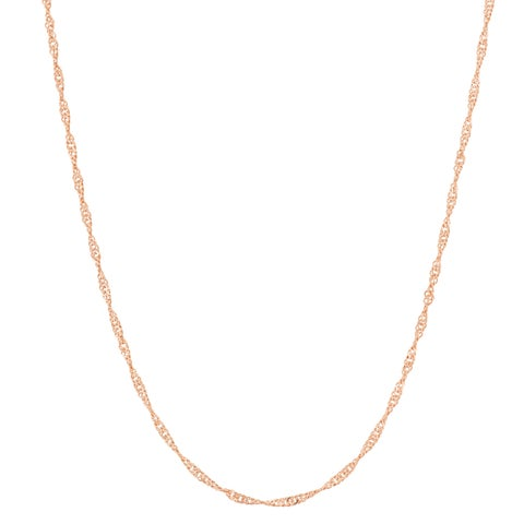 Gioelli Goldplated Sterling Silver Adjustable Singapore Chain