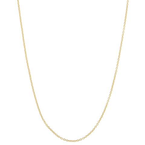 Gioelli Goldplated Sterling Silver Adjustable Cable Chain