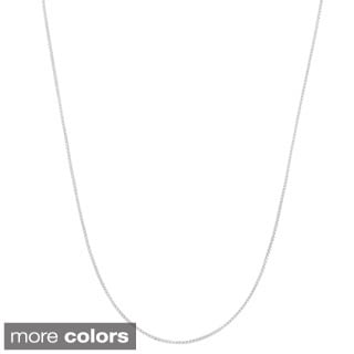 Gioelli Goldplated Sterling Silver Adjustable Box Chain