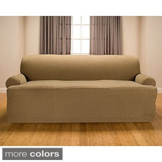 Galway Premium Stretch T-cushion Sofa Slipcover