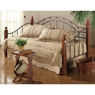 Hillsdale Camelot Black/Brown Cherry Wood Daybed