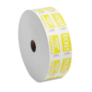 Sparco Yellow Roll Tickets (Roll of 2000)