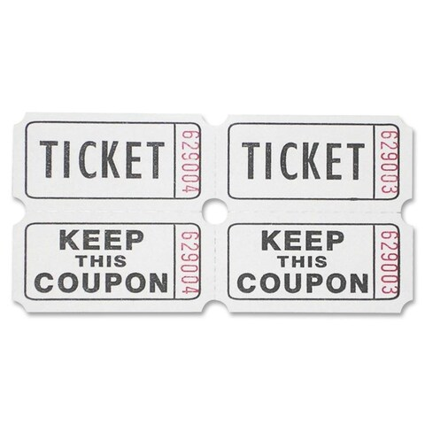 Sparco White Roll Tickets (Roll of 2000)