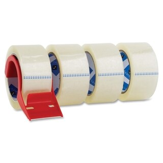 Sparco Heavyduty Packaging Tape with Dispenser (Pack of 4)