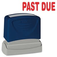 Sparco PAST DUE Red Title Stamp - Each