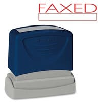 Sparco 'Faxed' Red Title Stamp