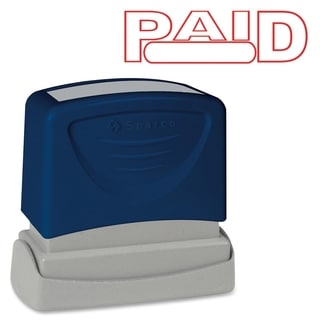 Sparco PAID Red Title Stamp - Each