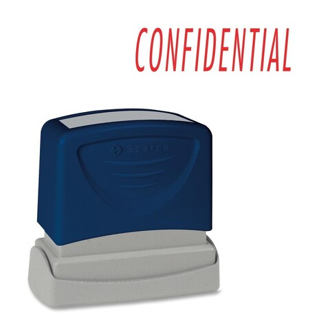 Sparco CONFIDENTIAL Red Title Stamp - Each