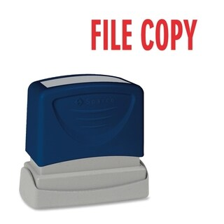Sparco FILE COPY Red Title Stamp - Each