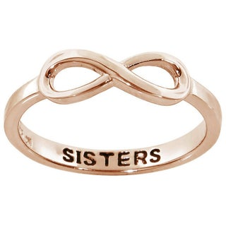 Eternally Haute Sisters Sentiment Infinity Ring