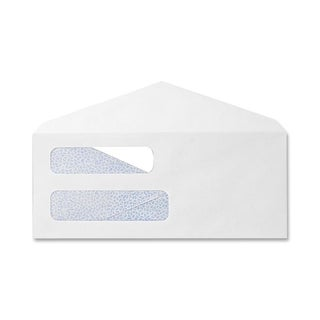 Sparco Double Window White Wove Envelopes (Box of 500)