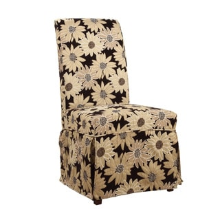 Powell Guinevere Black Peppercorn Floral Skirted Slip Over Slipcover- pack 1 (Fits 741-440 Chair.