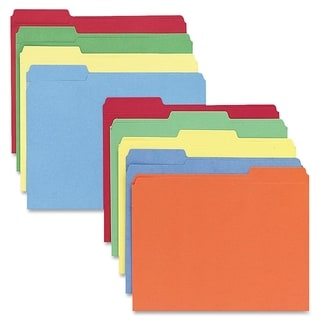 Sparco 1/3 Cut Colored Letter Size File Folders (Box of 100)