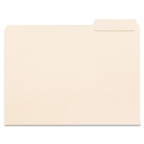 Sparco 1/3 Cut Singleply Interior File Folders (Box of 100)