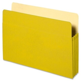 Sparco Yellow Tyvek Reinforced Accordion File Pockets