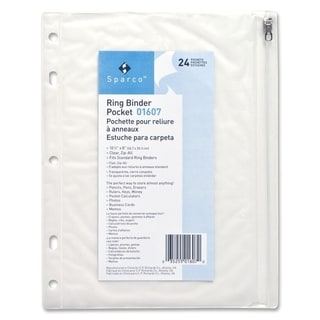 Sparco Vinyl Ring Binder Pockets
