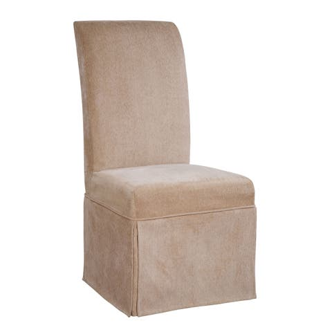 Powell Guinevere Tan Chenille Skirted Slip Over Slipcover- pack 1 (Fits 741-440 Chair. Chair not i