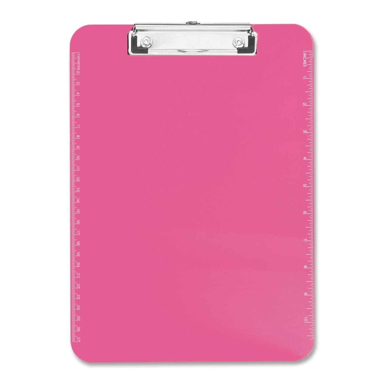 SPARCO Neon Pink Plastic Clipboards with Flat Clip (SPR01...