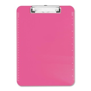 Sparco Neon Pink Plastic Clipboards with Flat Clip