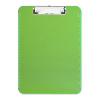 Sparco Neon Green Plastic Clipboards with Flat Clip