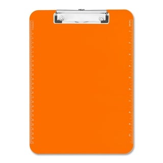 Sparco Neon Orange Plastic Clipboards with Flat Clip