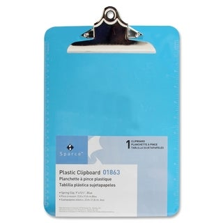 Sparco Blue Plastic Clipboards