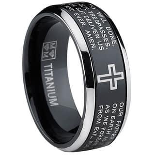 Oliveti Black Titanium Men's Lord's Prayer Spinner Ring|https://ak1.ostkcdn.com/images/products/9519082/P16697170.jpg?impolicy=medium
