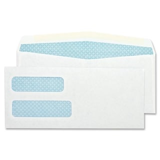 Sparco Double Window White Woven Envelopes (Box of 500)