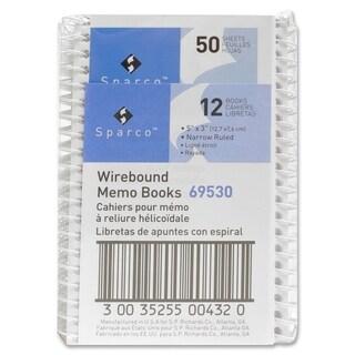 Sparco Wirebound Memo Books - 12/DZ