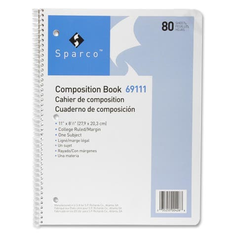 Sparco Punched Spiral Composition Books - Each