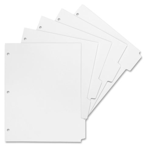 Sparco 3-Hole Letter-size Print-on Tab Dividers - 50/BX