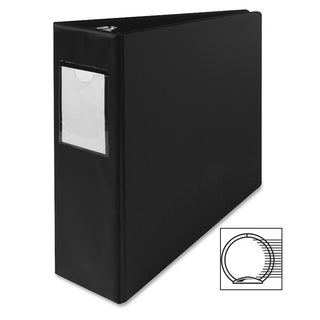Sparco Vinyl Ring Binders with Label Holders
