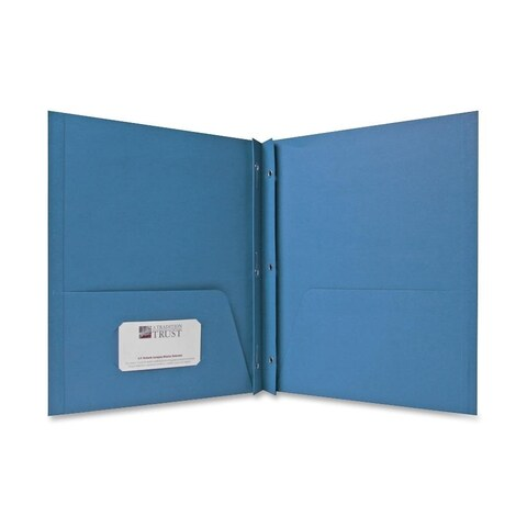 Sparco Blue 2-pocket Folders with Fasteners (Box of 25)
