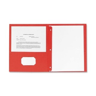 Sparco Red 2-pocket Folders with Fasteners (Box of 25)