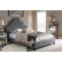 Gracewood Hollow Stiefvater Contemporary Grey Fabric Platform Bed