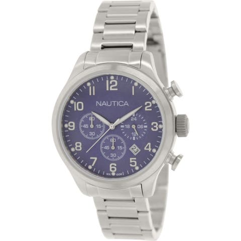 Nautica Men's N17664G 'BFD' Chronograph Stainless Steel Watch