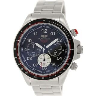 Vestal Men's Zr-2 ZR2020 Silver Stainless-Steel Quartz Watch with Black Dial