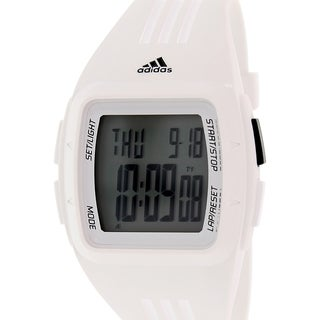 Adidas Men's Duramo ADP6095 White Rubber Quartz Watch with Digital Dial