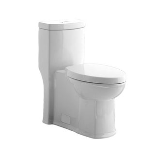 American Standard White Boulevard 1-piece Siphon Dual Flush Toilet