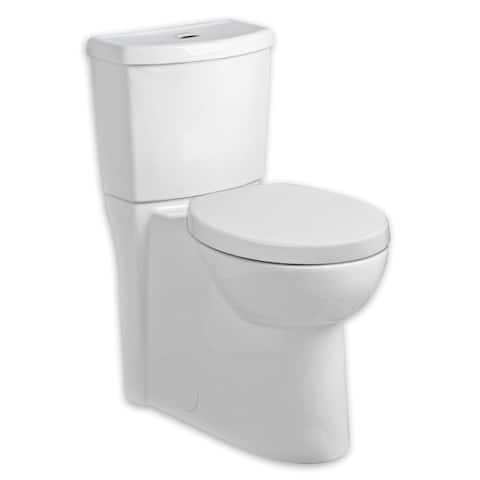 American Standard Studio Elongated Dual Flush Right Height Two-Piece Toilet 2794.204.020 White