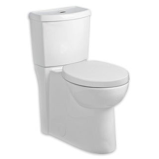 American Standard White Studio Right Height Elongated Siphon Dual Flush Toilet Combo