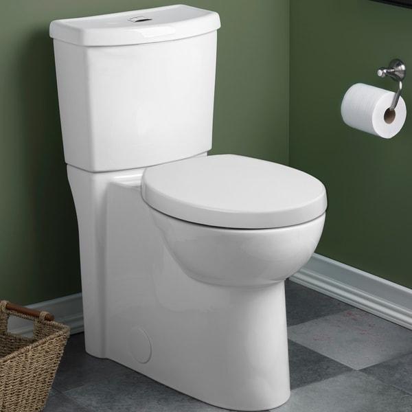 American Standard Studio Round Dual Flush Right Height Two Piece Toilet 2795 204 020 White