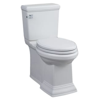 American Standard White Town Square Concealed Trapway Right Height Elongated Toilet Combo