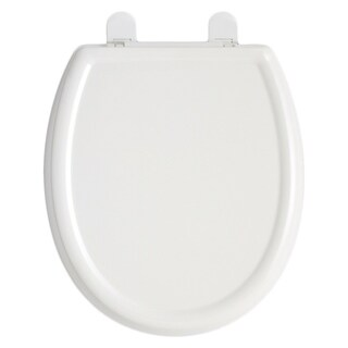 American Standard White Cadet 3 Round-front Slow Close Plastic Seat