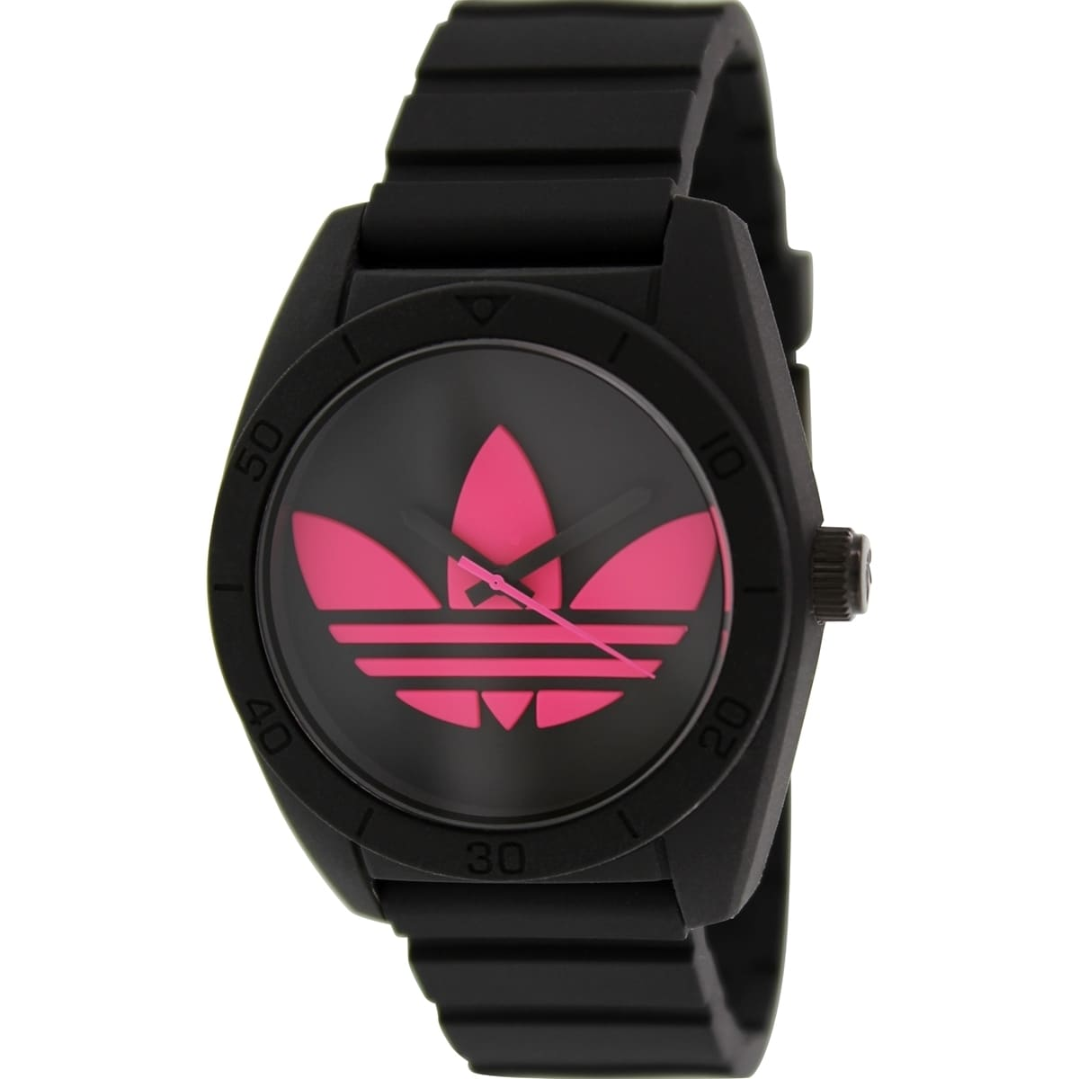 Adidas Men's Santiago ADH2878 Black Silicone Quartz Watch...