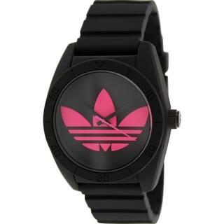 Adidas Men's Santiago ADH2878 Black Silicone Quartz Watch with Black Dial|https://ak1.ostkcdn.com/images/products/9521525/P16699569.jpg?impolicy=medium