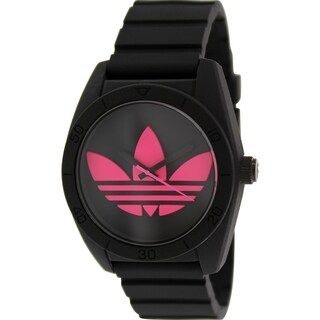 Adidas Men's Santiago ADH2878 Black Silicone Quartz Watch with Black Dial